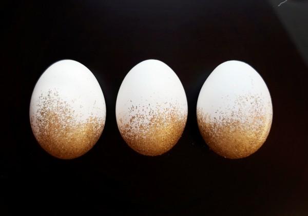 Weiß Gold Glitter Trio