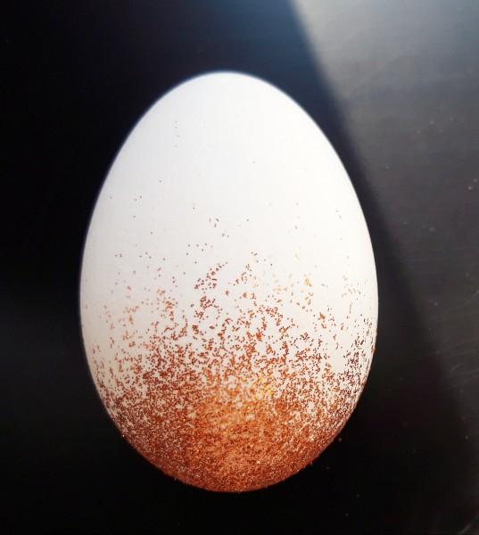 Gänseei Glitter Kupfer Ostereier