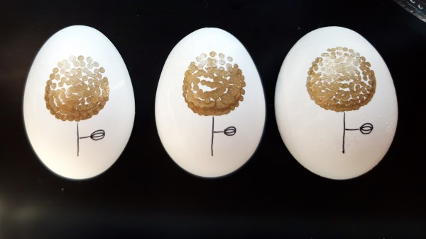 Blume Trio Gold Ostereier