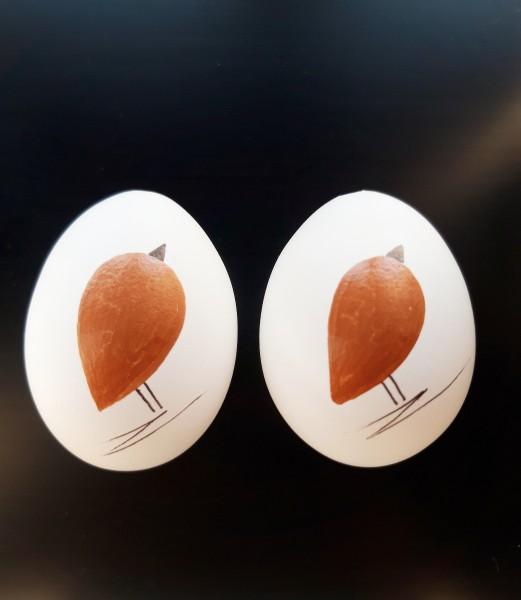 Perlhuhn Duo Kupfer Ostereier